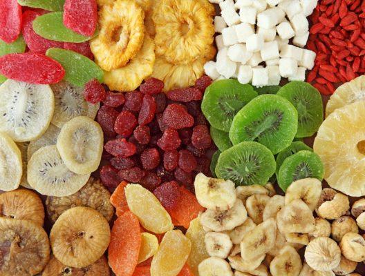 thực đơn hoa quả sấy khô